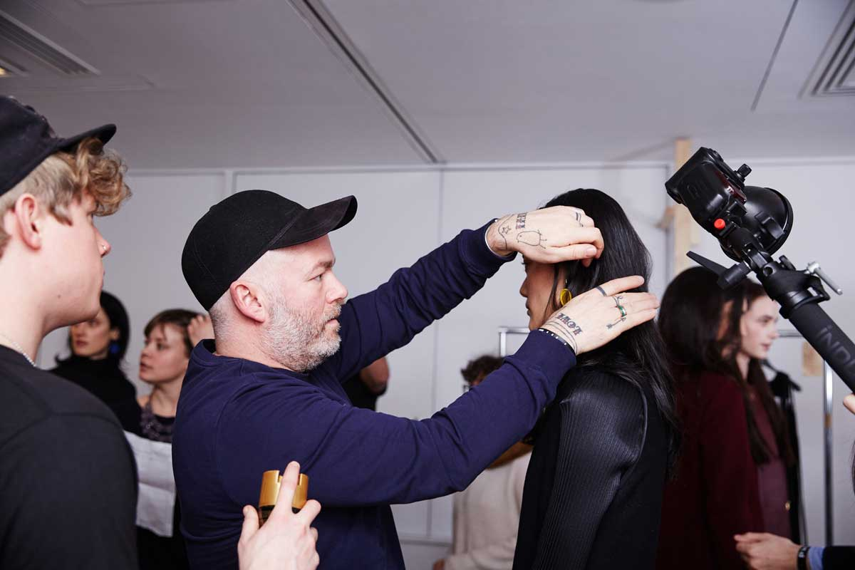 Adam Reed hairdresser backstage