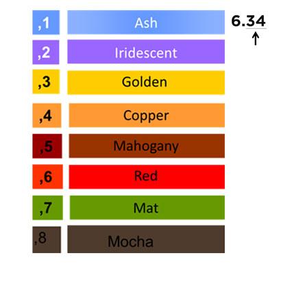 Hair Colour Numbering System | L\'Oréal Professionnel