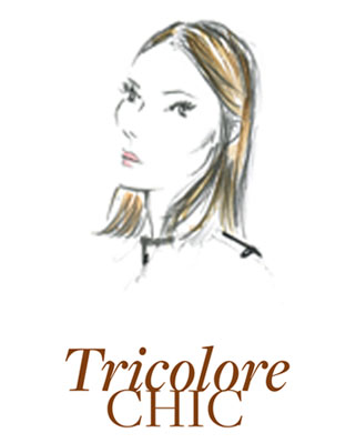Tricolore Chic sketch of hair model