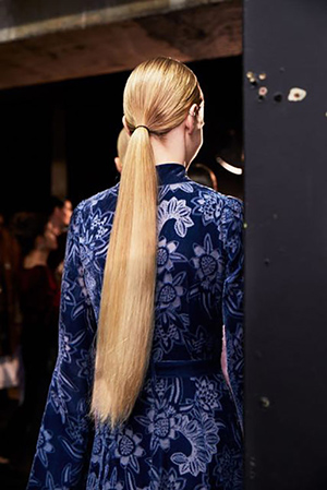 Erdem Fashion Week hair AW17