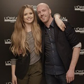 Beauty blogger Kristina Bazan and hair stylist