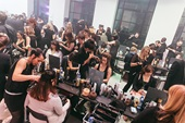 Image of live hairdressing event