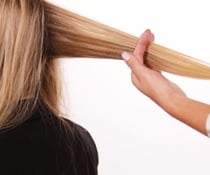 Blonde Hair being styled