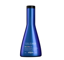Blue bottle of shampoo