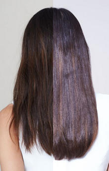 Steampod Brunette before and after