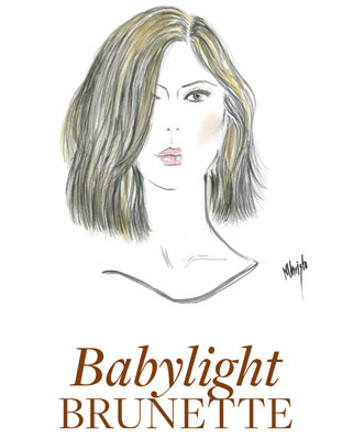 sketch showing babylight brunette hair colour