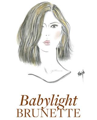 dessin montrant babylight brune de cheveux de la couleur