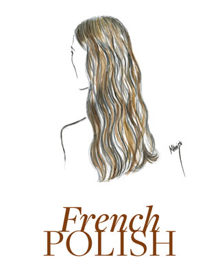 sketch showing french polish hair colour
