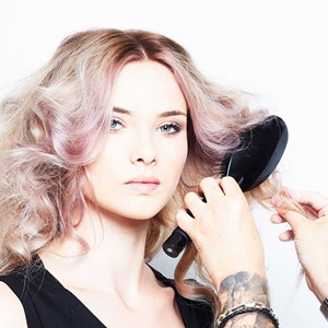 pink hair colour with smartbond