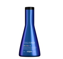 Blue bottle of conditioner