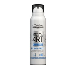 Silver spray can styling product